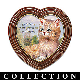 Cats Leave Paw Prints On Our Hearts Wall Decor Collection