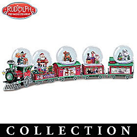 Rudolph The Red-Nosed Reindeer Express Snowglobe Collection