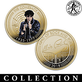 Elvis King Of Rock And Roll Golden Proof Coin Collection