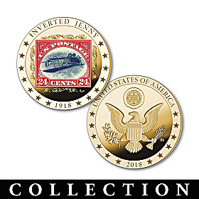 The World's Rarest Stamps Golden Proof Coin Collection