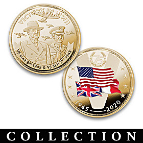 World War II Victory 75th Anniversary Proof Coin Collection