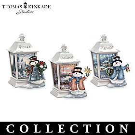 Thomas Kinkade Lights Of The Holiday Lantern Collection