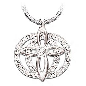 Forever Diamond Cross Pendant Necklace