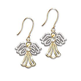 My Dear Granddaughter Angel Earrings