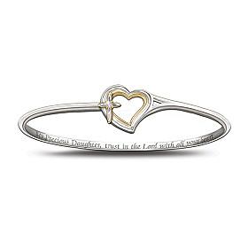 My Precious Daughter Faith And Love Diamond Bracelet