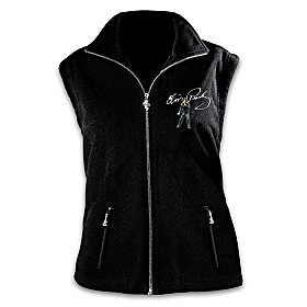 Elvis Ready To Rock Fleece Vest