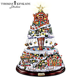 Thomas Kinkade Winter Festival Tree