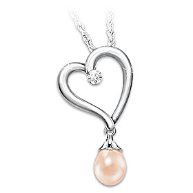 In Style Every Day Cultured Pearl And Diamond Necklace