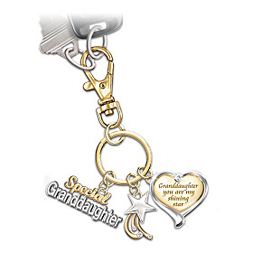 My Granddaughter My Shining Star Key Chain