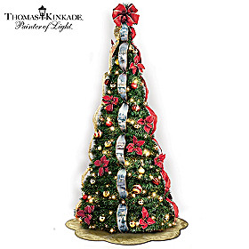 Thomas Kinkade Wondrous Winter Pre-Lit Pull-Up Tree