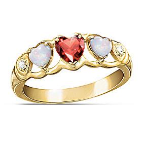 Loving Hearts Eternity Ring