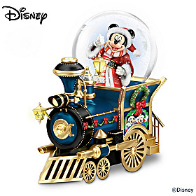 Disney Santa Mouse Is Comin' To Town Snowglobe