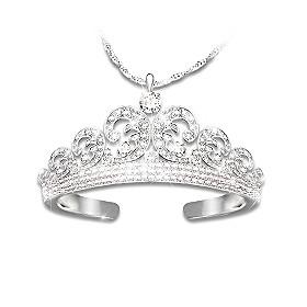 Royal Wedding Tiara Pendant Necklace