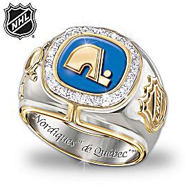 Quebec Nordiques Diamond Team Ring