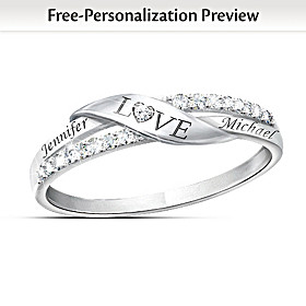 Love Personalized Diamond Ring