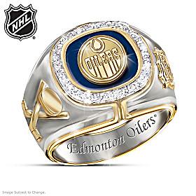 Edmonton Oilers® Diamond Team Men's Ring
