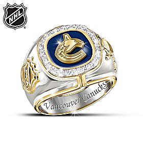 Vancouver Canucks® Diamond Team Men's Ring
