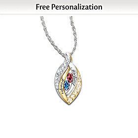 Together In Love Personalized Pendant Necklace