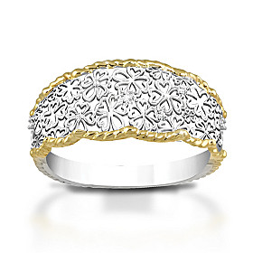 Floral Lace Diamond Ring