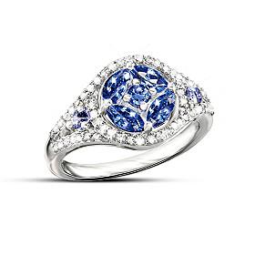 Exotic Beauty Tanzanite And Diamond Ring