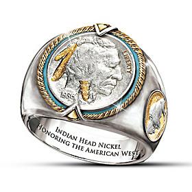Indian Head Nickel Men's Ring