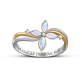 The Trinity Opal And Diamond Ring