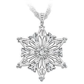 Unique As A Snowflake Diamond Pendant Necklace