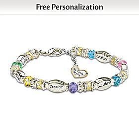 My Family, My Joy Personalized Bracelet