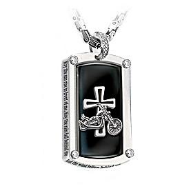 Biker's Blessing Pendant Necklace