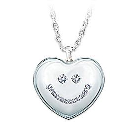 Granddaughter Smile Pendant Necklace