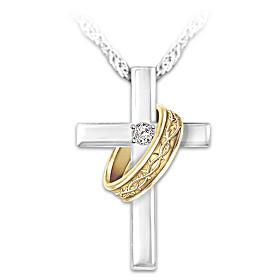Crown Of Thorns Diamond Pendant Necklace