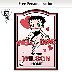 Betty Boop Personalized Welcome Sign