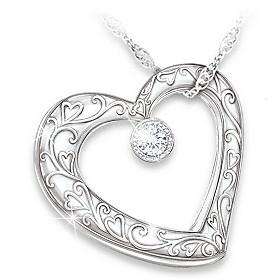 Celebration Of Motherhood Diamond Pendant Necklace