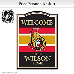 Ottawa Senators® Personalized Welcome Sign