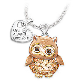 Granddaughter Owl Always Love You Pendant Necklace