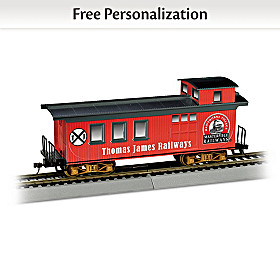 Personalized Caboose Train Car