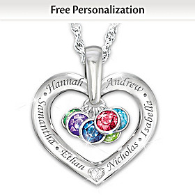 Together With Love Personalized Diamond Pendant Necklace