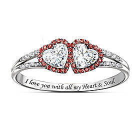 Heart & Soul Topaz And Diamond Ring