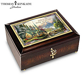 Thomas Kinkade: Believe All Things Are Possible Music Box