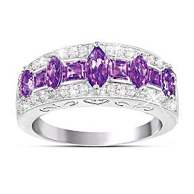 Purple Rhapsody Amethyst And Diamond Ring