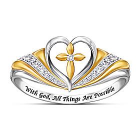 With Faith In My Heart Diamond Ring