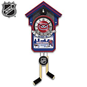 Montreal Canadiens® Cuckoo Clock