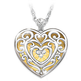 Glowing With Beauty Diamond Pendant Necklace