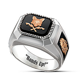 Hands Up! Grey Fox Ring