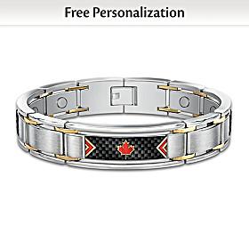 The Spirit Of Canada Personalized Men's Bracelet