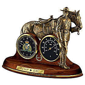 Honoured To Serve Clock And Thermometer