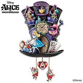 Disney Alice In Wonderland Mad Hatter Cuckoo Clock