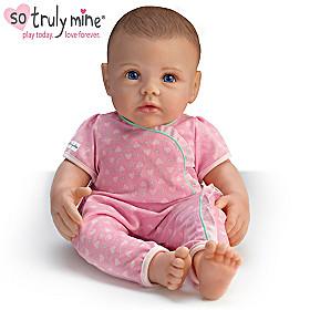 So Truly Mine Baby Doll: Brown Hair, Blue Eyes, Light Skin