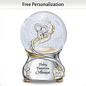 Loving You Today Tomorrow Always Personalized Glitter Globe