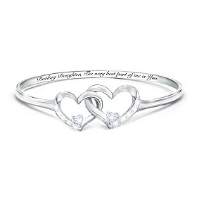 Best Part Of Me Diamond And White Topaz Bracelet